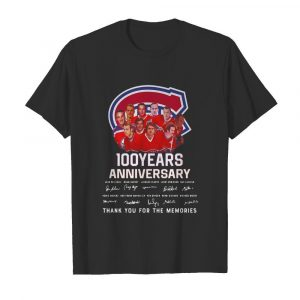 100 Years Anniversary Montreal Canadiens Thank You For The Memories shirt