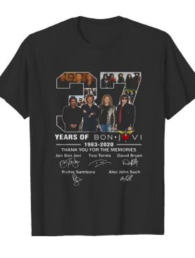 37 Years Of Bon Jovi 1983 2020 Thank You For The Memories Signatures shirt