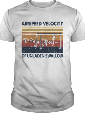 Airspeed velocity of unladen swallow vintage shirt