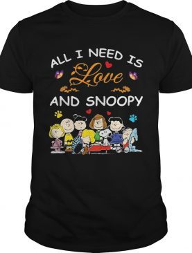 All i need is love and snoopy peanuts butterfly heart shirt
