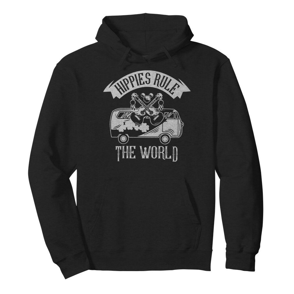 Car And Giutar Hippies Rule The World  Unisex Hoodie