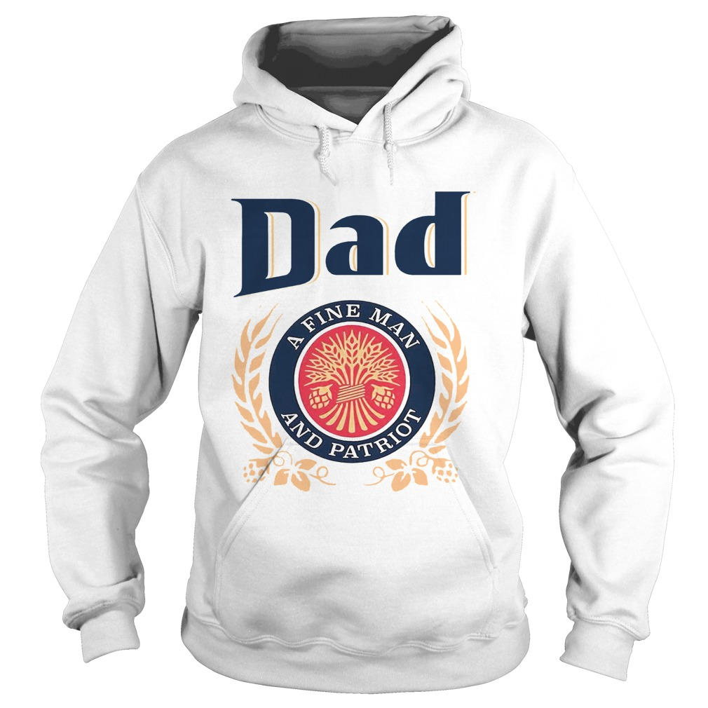 Dad A Fine Lineman And Patriot Fathers Day  Hoodie