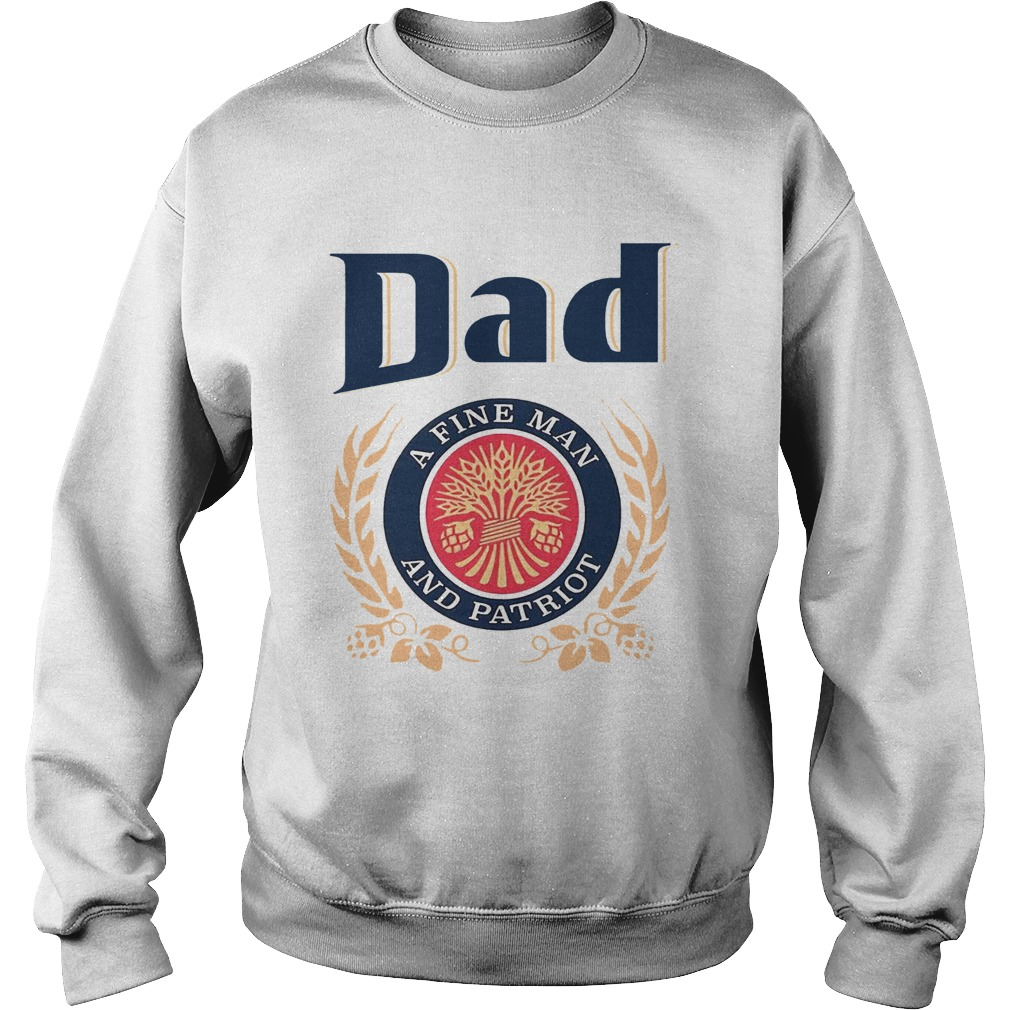 Dad A Fine Lineman And Patriot Fathers Day  Sweatshirt