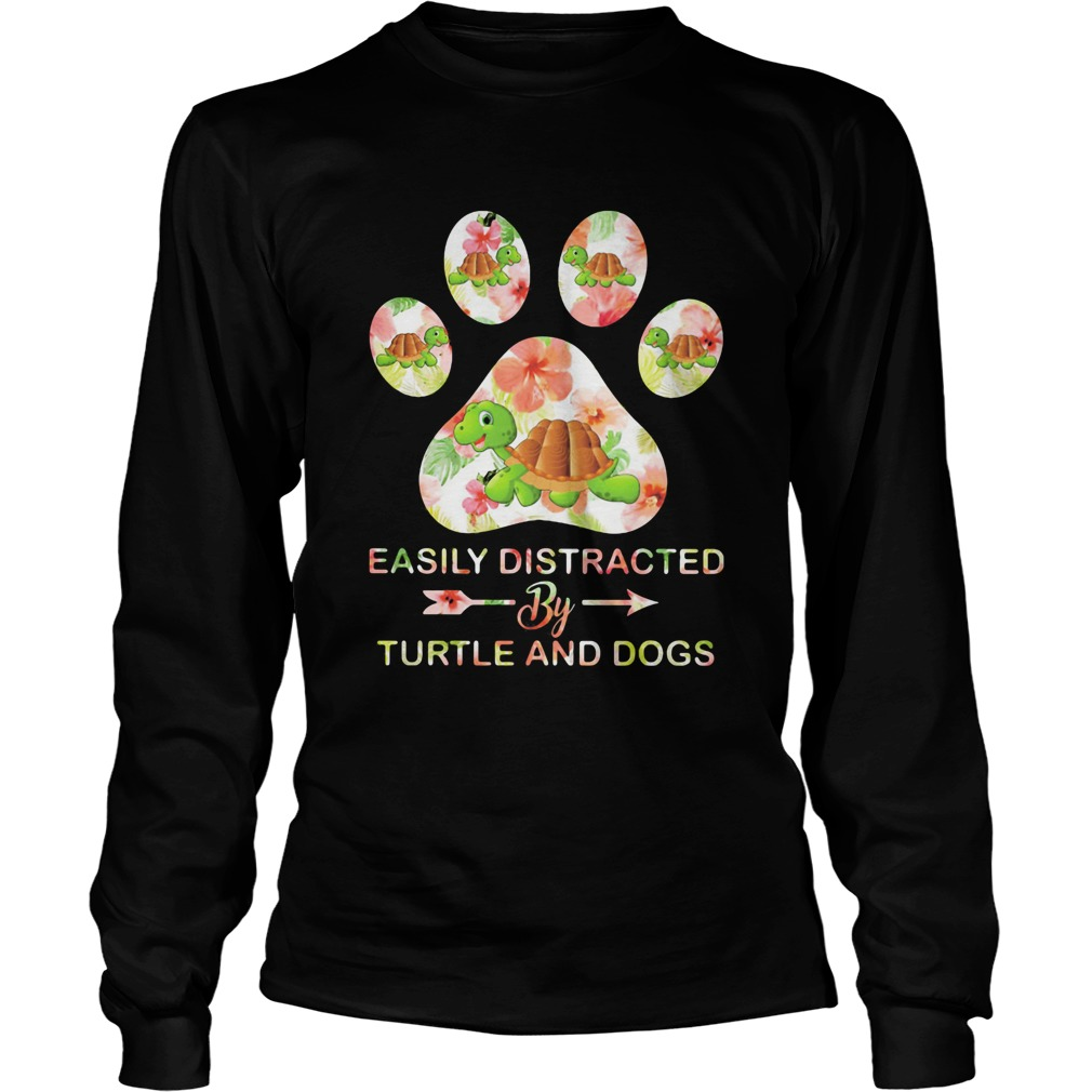 Flower easily distracted by sloths and dogs paw  Long Sleeve
