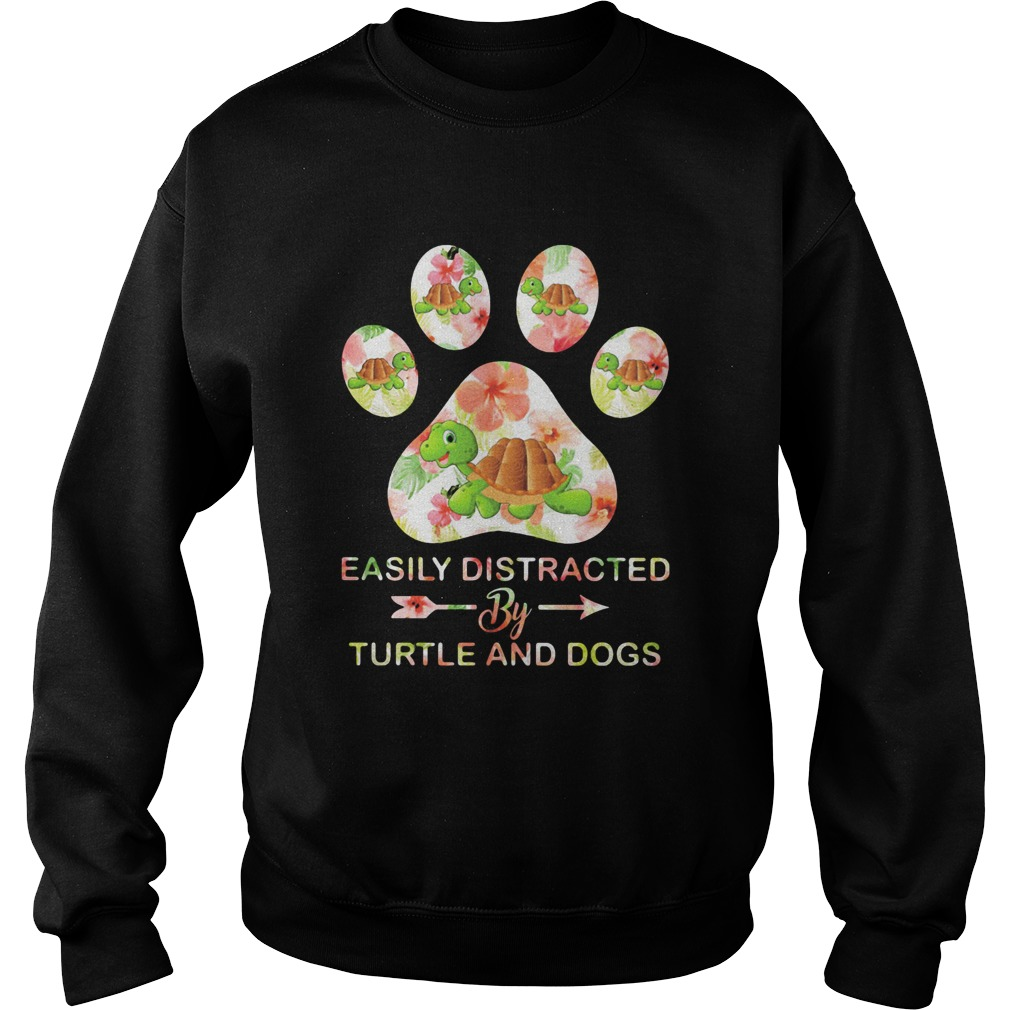 Flower easily distracted by sloths and dogs paw  Sweatshirt