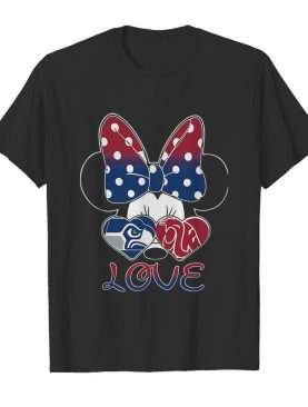 Minnie mouse seattle seahawks washington state cougars love shirt