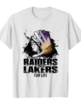 Oakland Raiders and los angeles lakers for life art shirt