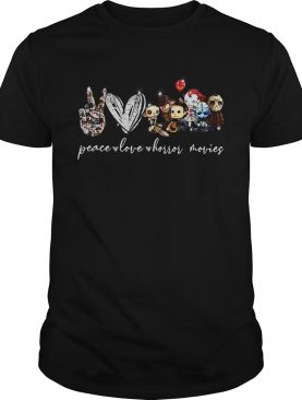 Peace Love Horror Movies shirt