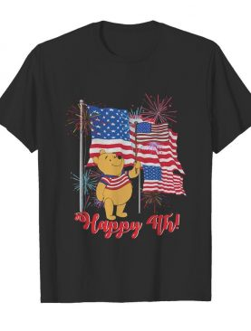 Pooh happy 4th american flag firework independence day shirt