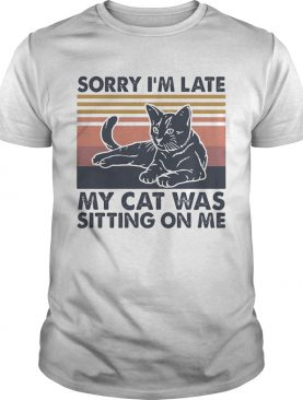 Sorry Im late my cat was sitting on me vintage shirt