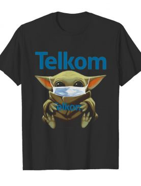 Star wars baby yoda mask hug telkom shirt