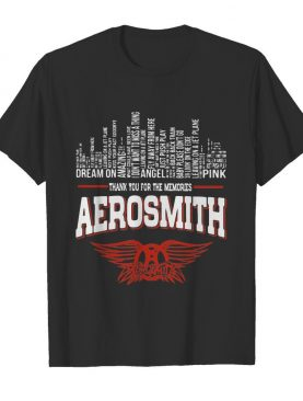 Thank you for the memories aerosmith shirt