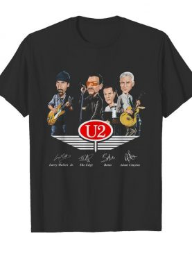 U2 larry mullen jr the edge bono adam clayton signatures shirt