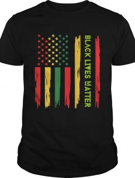 Black live matter american flag independence day shirt