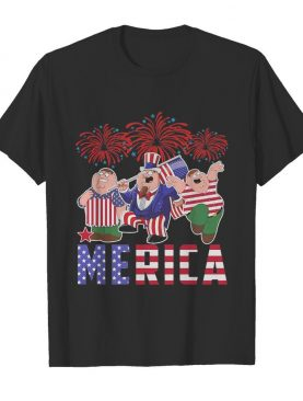 Brown haired dipper pines merica firework american flag independence day shirt