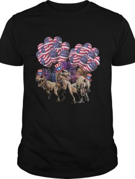 Dinosaur balloon american flag independence day shirt