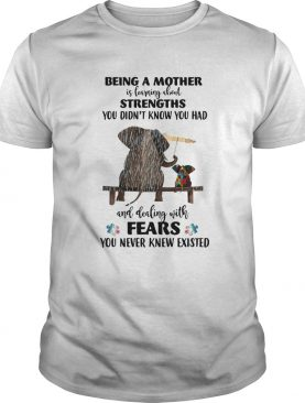 Elephant Being A Mother Strengths Autism shirt