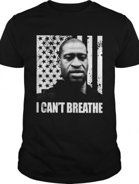 George Floyd I cant breathe American flag veteran Independence Day shirt
