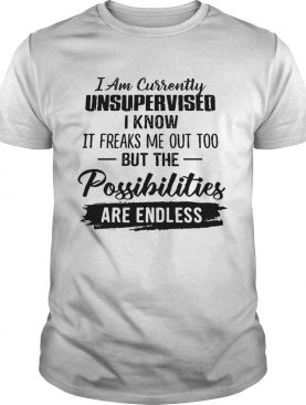 I Am Currently Unsupervised shirt