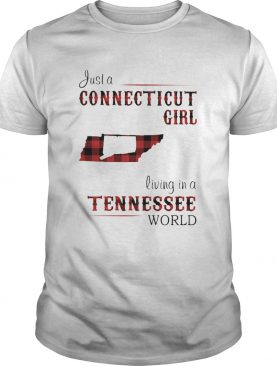 Just a connecticut girl living in a tennessee world map shirt