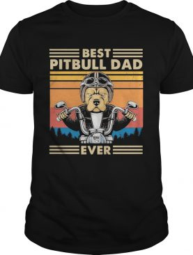 Motorcycle best pitbull dad ever vintage shirt