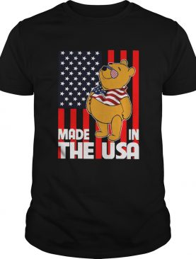 Pooh Made In The USA America Flag shirt