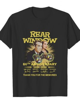 Rear Window 66th Anniversary 1954-2020 Thank You For The Memories Signature shirt