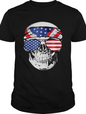 Skull American Flag Happy Independence Day shirt