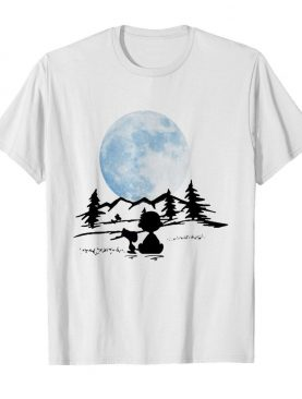 Snoopy and charlie brown camping moon shirt