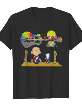 Snoopy and charlie brown hippie bear guitar dance shirt