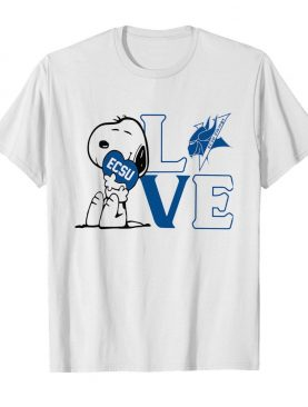 Snoopy love ecsu elizabeth city state university heart shirt