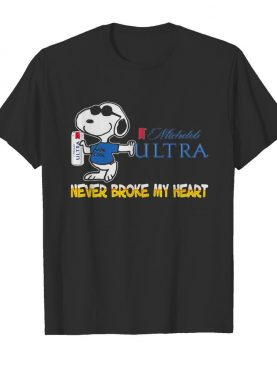 Snoopy michelob ultra beer never broke my heart shirt