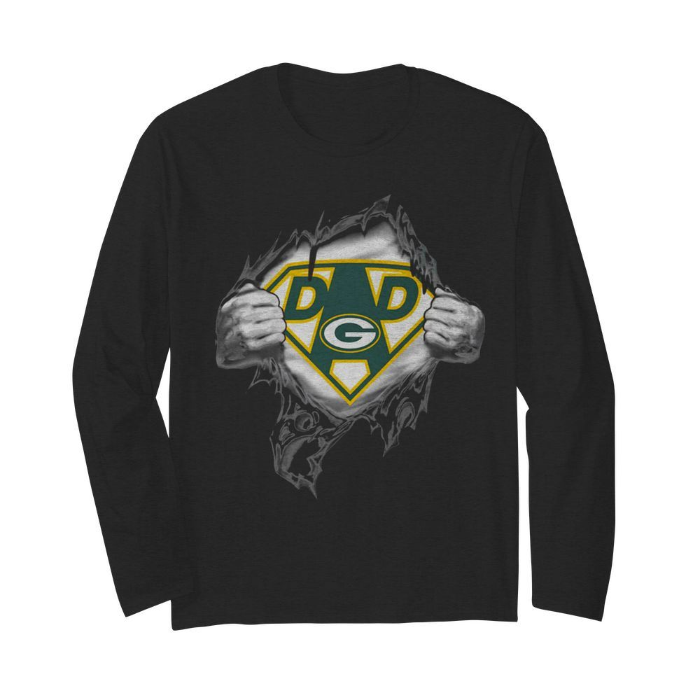 Superhero Green Bay Packers Father's Day  Long Sleeved T-shirt