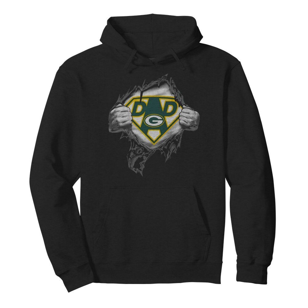 Superhero Green Bay Packers Father's Day  Unisex Hoodie