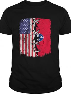 Tennessee and American Flag Independence Day shirt