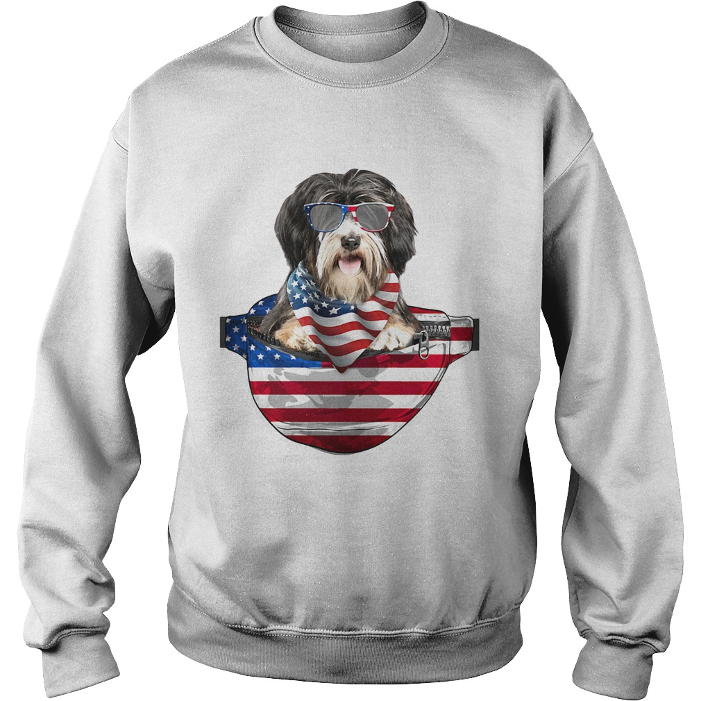 Big Grey Tibetan Terrier Dad T Shirt Sweatshirts Tee Shirt
