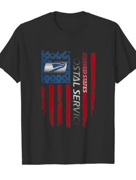 United states postal service logo american flag independence day shirt