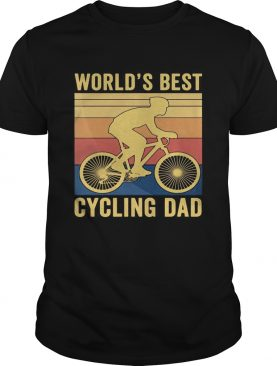 Worlds best cycling dad vintage retro shirt