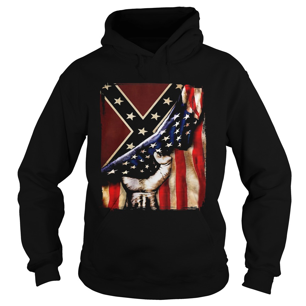 Flag american and dixieland  Hoodie