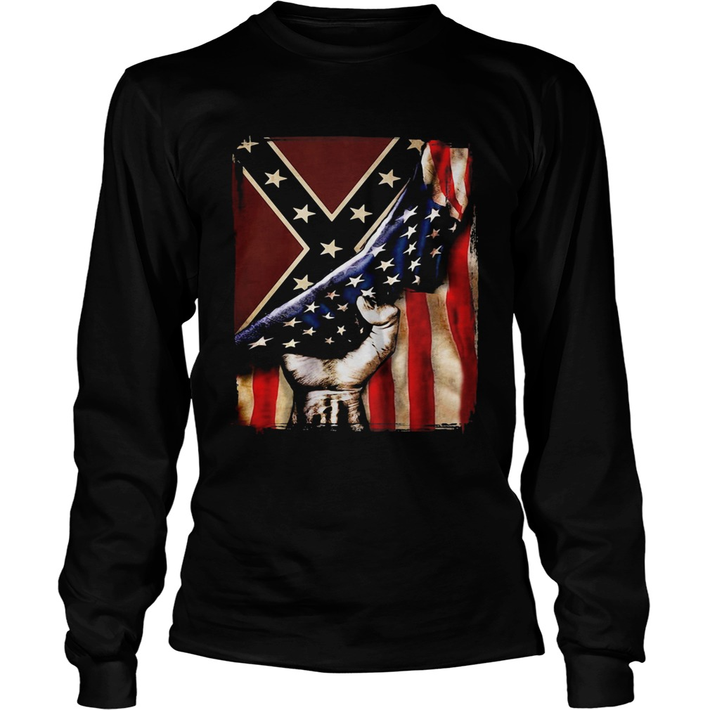 Flag american and dixieland  Long Sleeve