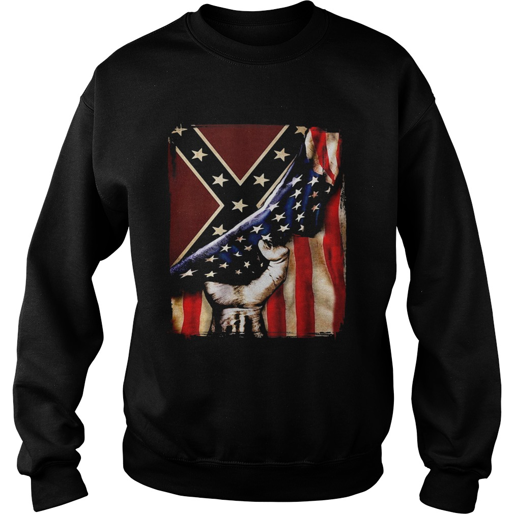 Flag american and dixieland  Sweatshirt