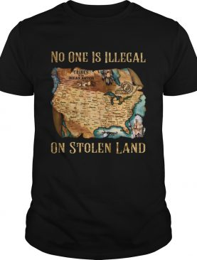 Maps No one is illegal on stolen land shirt