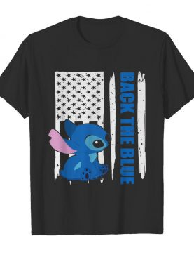 Stitch back the blue american flag happy independence day shirt
