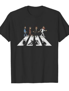 The beatles and black cats abbey road shirt