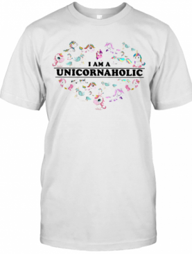 Unicorn Heart I Am Unicornaholic T-Shirt