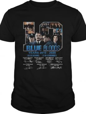 19 Blue Bloods Year 20102020 Signatures shirt