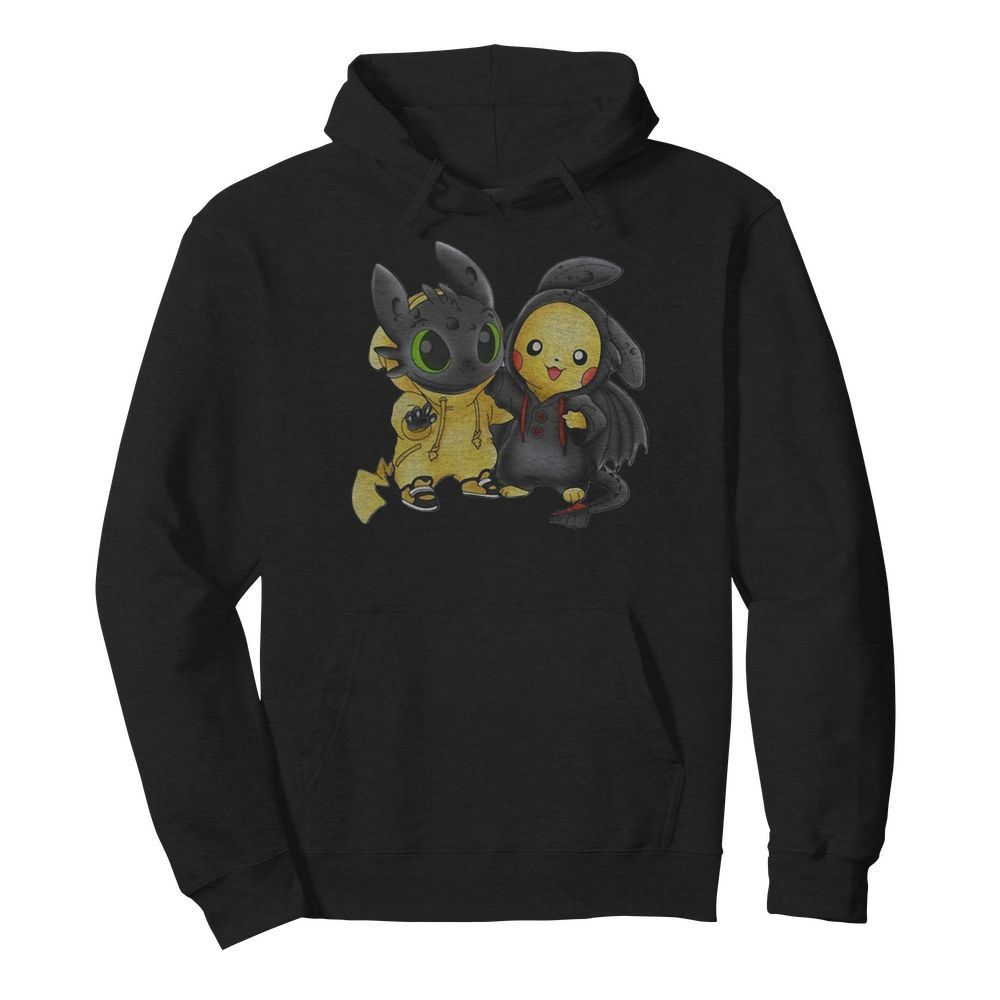 Baby Toothless and Pikachu  Unisex Hoodie