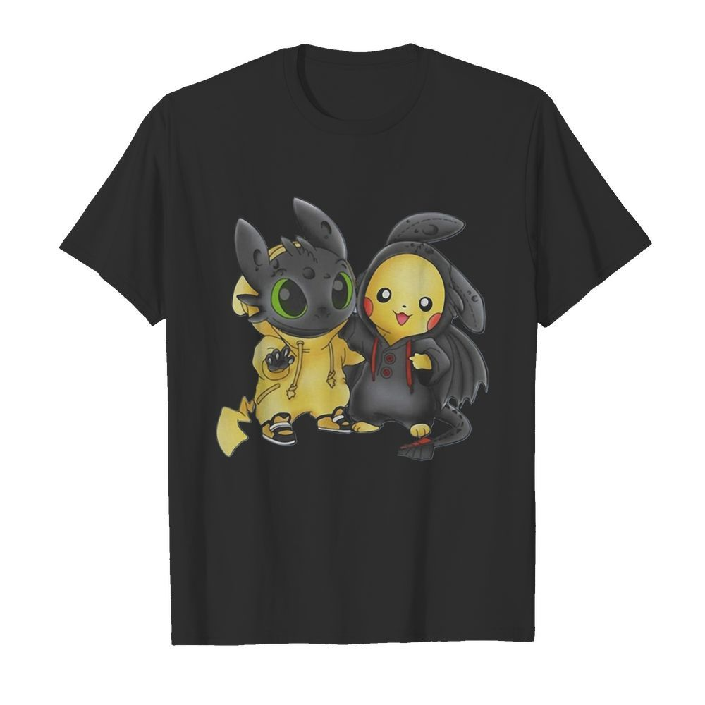 Baby Toothless and Pikachu  Classic Men's T-shirt