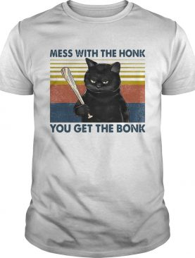 Cat Mess With The Honk You Get The Bonk Vintage shirt