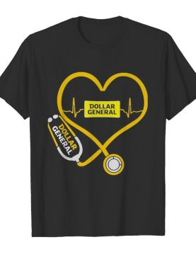Dollar General nurse stethoscope love heartbeat shirt